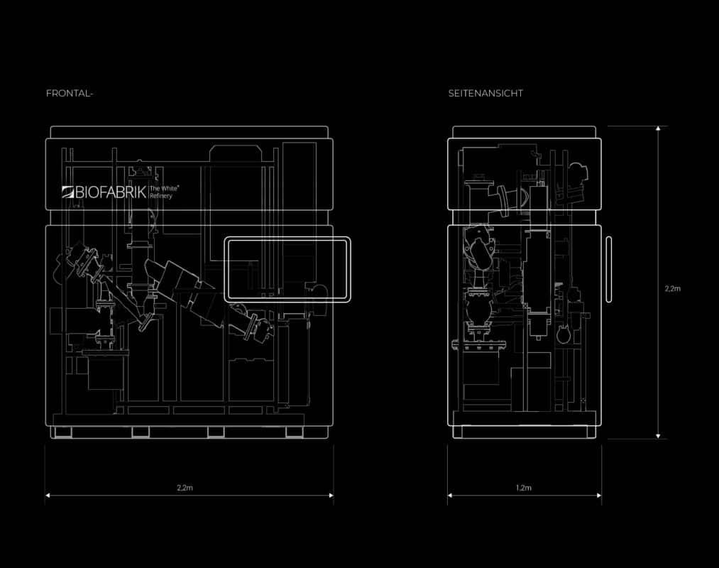 Technische Zeichnung der WASTX Plastic